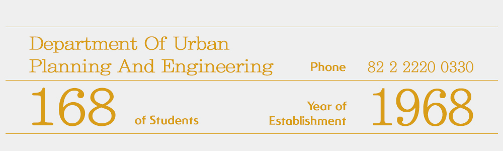 info Department of Urban Planning & Engineering