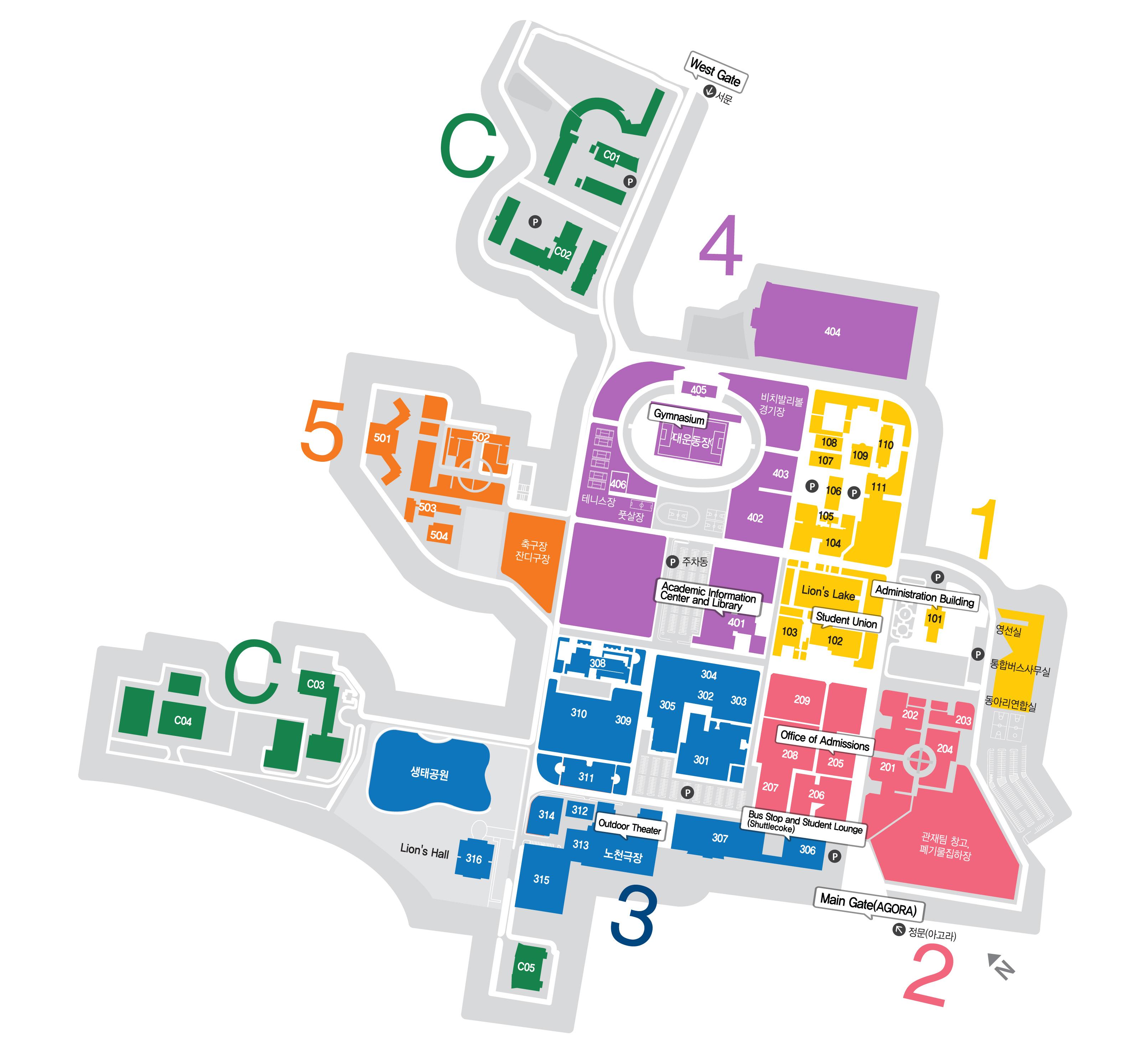hanyang university campus map Campus Map Directions Hanyang University hanyang university campus map