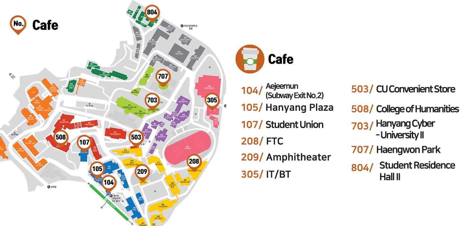 hanyang university campus map General Hanyang University Finding Facilities hanyang university campus map