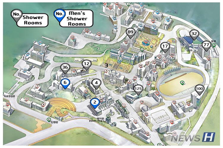hanyang university campus map Special Hanyang University For A Convenient Campus Life hanyang university campus map