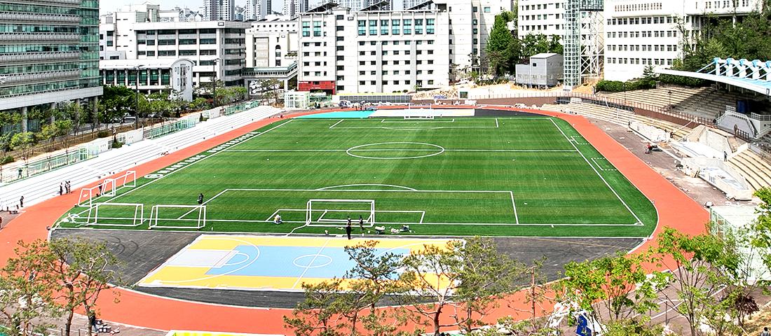 大运动场人造草坪球场与地下停车场竣工仪式