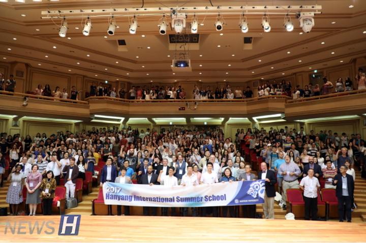 汉阳大,韩国最大规模国际暑期学校入学仪式