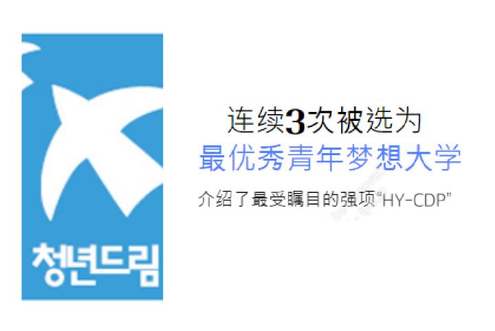 """汉阳大学,连续3次被选为""""最优秀青年梦想大学"""""""