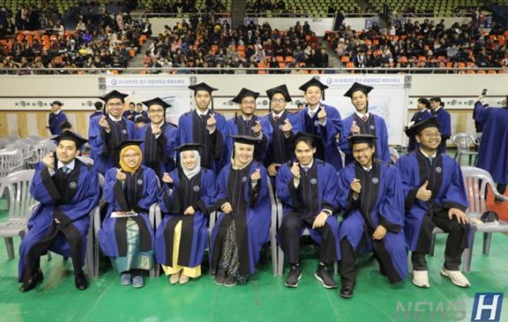 汉阳大学举行今年上半年学位授予仪式