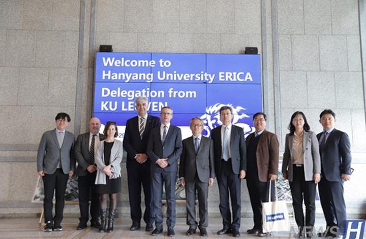 比利时KU Leuven大学与汉阳大学签署姊妹学校协议并访问ERICA校园