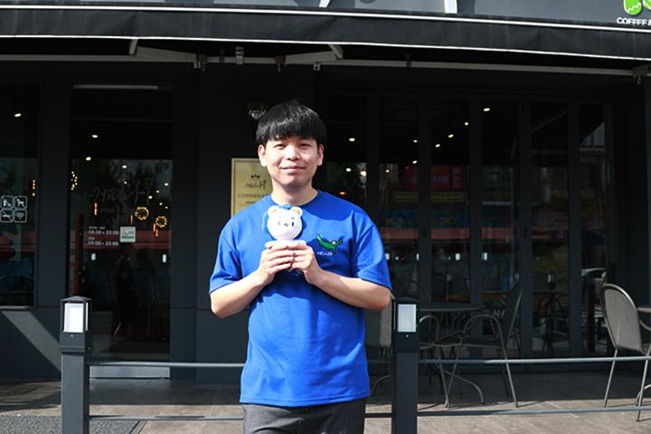 """设计师赵德莱同学,创作了ERICA校区的吉祥物""""hanyangi"""""""