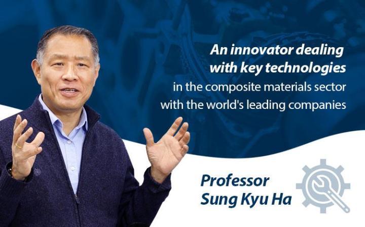 [2019研究优秀教授] 在复合材料领域进行产品技术全程开发,与世界著名企业合作的创新者