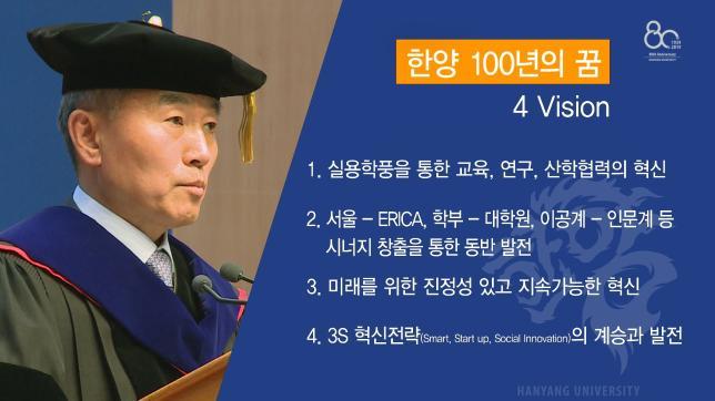 한양대학교 제15대 김우승 총장 취임식