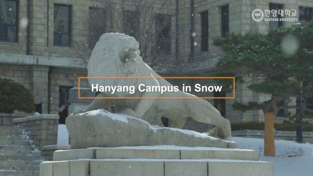 2020 Hanyang Campus in snow