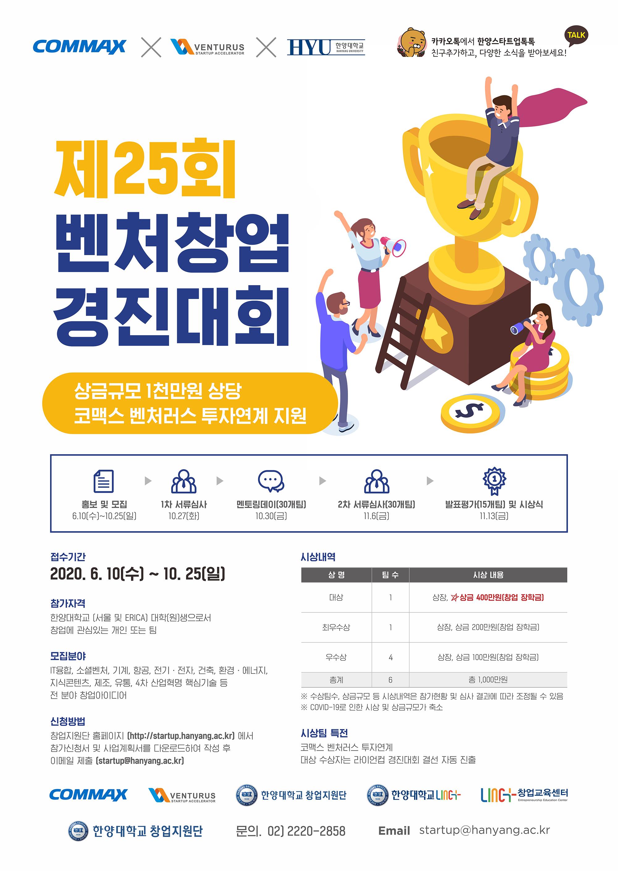 [20.10.07]한양대-코맥스, 혁신창업자 발굴위한 경진대회 열어