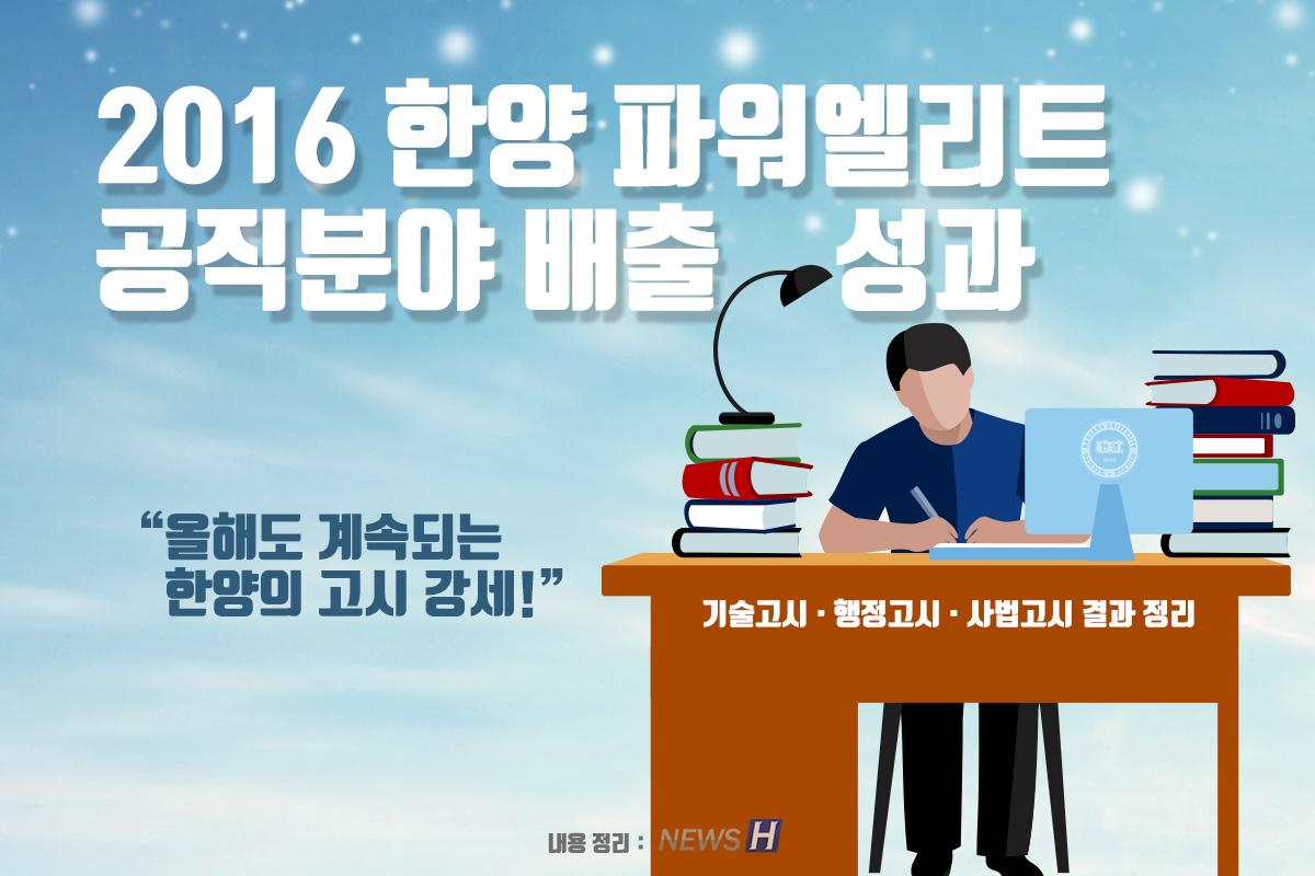 2016 공직 분야 합격자 현황 정리