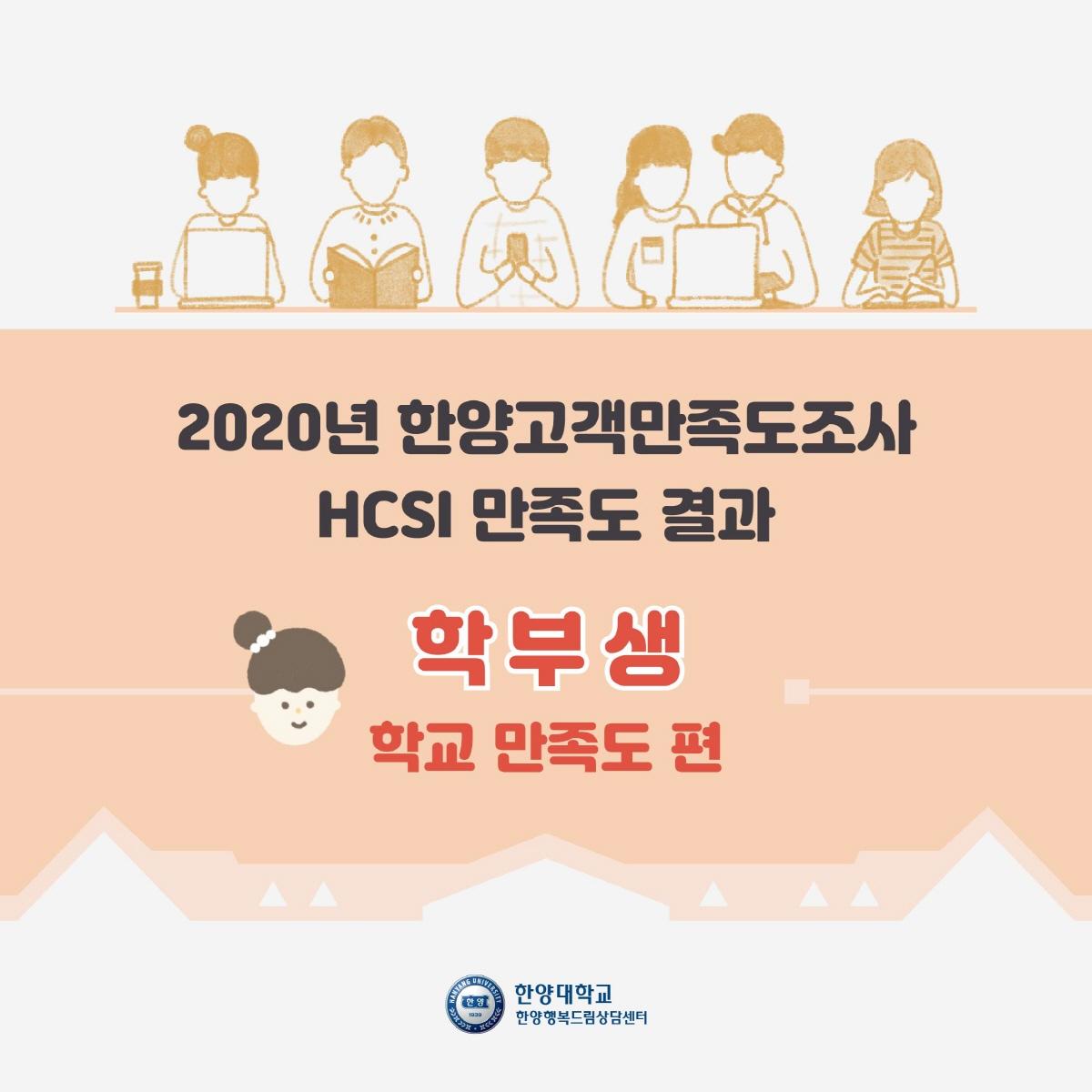 2020 한양고객만족도조사 결과 : 학부생 학교만족도 편